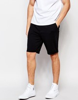 Weekday Castor Shorts Tailored Jersey in Black