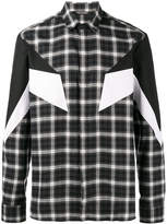 Neil Barrett Modernist plaid shirt
