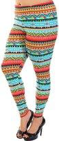 Leggings4U Women's Colorful Tribal Arrow Decal Print Plus Size Fashion Leggings