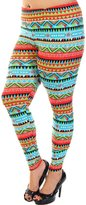 Leggings4U Women's Print Plus Size Fashion Leggings