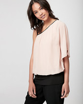Le Château Chiffon One Shoulder Poncho Top