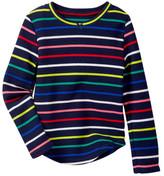 Joe Fresh Stripe Waffle Knit Top (Toddler & Little Girls)