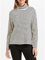 John Lewis Stripe Relaxed Roll Neck Top