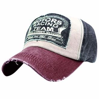 SSMENG Unisex Vintage Mesh Trucker Hat Vintage Washed Denim Outdoor Summer Cotton Twill Adjustable Baseball Cap