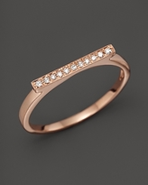 Sylvie Dana Rebecca Designs Diamond Rose Ring in 14K Rose Gold
