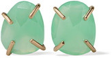 Melissa Joy Manning 14-karat Gold Chrysoprase Earrings - Green