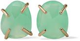 Melissa Joy Manning 14-karat Gold Chrysoprase Earrings