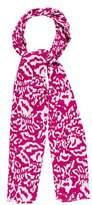 Diane von Furstenberg Leopard-Printed Woven Shawl