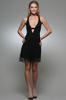 Tricia Fix Goddess Short Dress in Black Lace