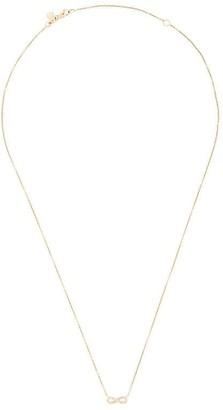Sydney Evan 14kt yellow gold Infinity diamond necklace