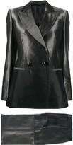 Gianfranco Ferre Pre Owned 1990s metallic sheen two-piece suit