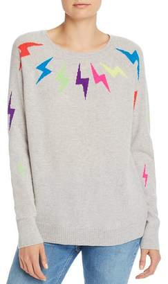 Aqua Lightning Bolt Cashmere Sweater - 100% Exclusive