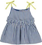 BONNET Ã POMPON Striped Sun Bath Dress