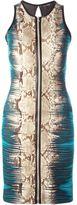 Roberto Cavalli snakeskin print dress