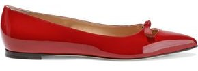 Sergio Rossi Knotted Cutout Patent-leather Point-toe Flats