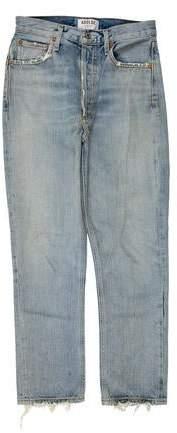 Current/Elliott Mid-Rise Leather Pants