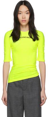 Balenciaga Yellow Athletic T-Shirt