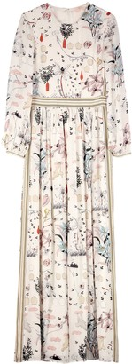Tory Burch Printed Silk Long Dress