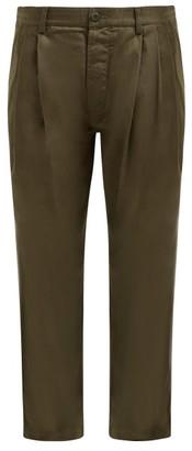 MHI Straight-leg Cotton Chino Trousers - Khaki