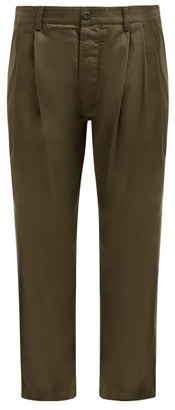 MHI Straight-leg Cotton Chino Trousers - Womens - Khaki
