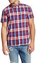 Lucky Brand Regular Fit Short Sleeve Western Check Shirt