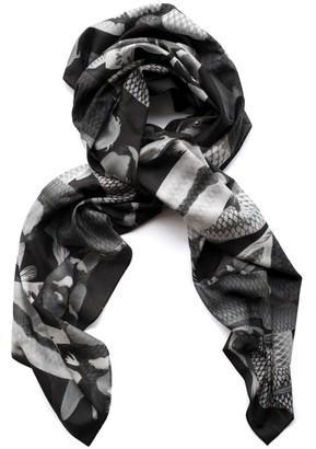 Arlette Ess Koi Mono Lightweight Silk Cotton Scarf