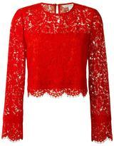 Diane von Furstenberg floral lace blouse - women - Cotton/Polyester/Spandex/Elastane/Polyimide - 8