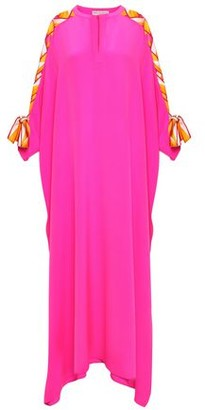Emilio Pucci Bow-detailed Embellished Silk Crepe De Chine Kaftan