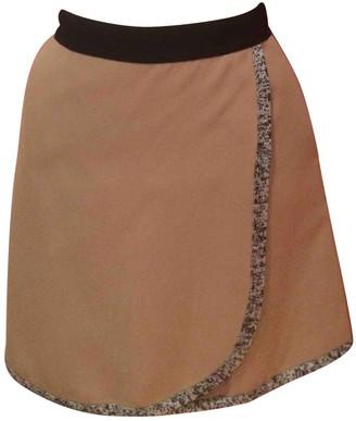 Erotokritos Beige Cotton Skirt for Women