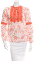 Tory Burch Long Sleeve Printed Blouse