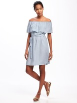 Old Navy Ruffled Off-the-Shoulder Tencel® Shift Dress for Women