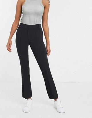 InWear Zayna split front pants in black