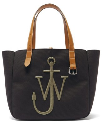 J.W.Anderson Belt Embroidered-anchor Canvas Tote Bag - Khaki Multi