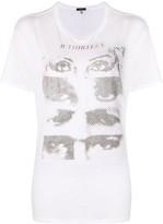 R 13 eye print T-shirt