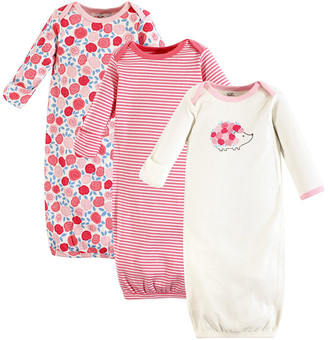 Touched by Nature Girls' Infant Gowns Rosebud - Pink Rosebud Organic Cotton Gown Set - Newborn