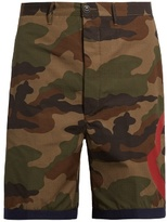Moncler Camouflage-print cotton shorts