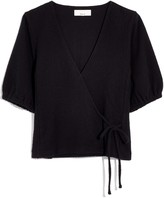 Madewell Texture & Thread Puff-Sleeve Wrap Top