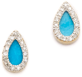 Adina Turquoise + Diamond Teardrop Earrings
