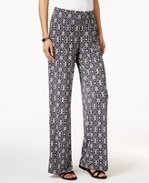 NY Collection Petite Printed Soft Pants