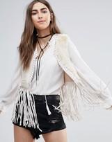 Raga The Nomad Faux Fur Fringed Vest