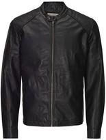 Jack and Jones Faux Leather Bomber Jacket