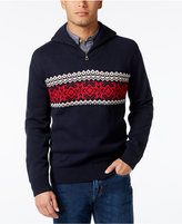 Weatherproof Men's Quarter-Zip Fair Isle Sweater, Classic Fit