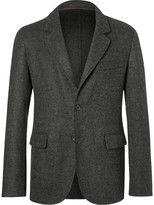Caruso - Grey Butterfly Slim-fit Unstructured Camel Hair Blazer