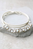 LuLu*s Vixen Gold and Black Rhinestone Wrap Necklace