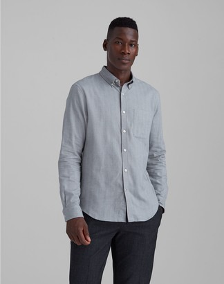 Club Monaco Slim Herringbone Flannel Shirt