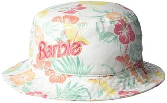 Roxy Kids Barbie Reversible Bucket Hat (Little Kids/Big Kids) (Bright White Retro Hibiscus) Caps