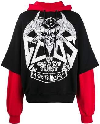 GCDS layered hoodie