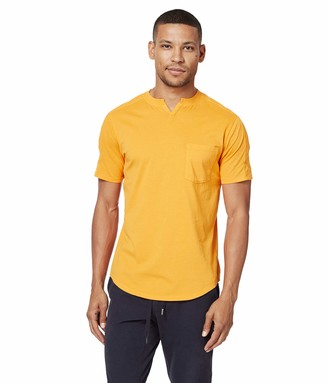 Good Man Brand Men's Premium Cotton Jersey Notch Neck Crew