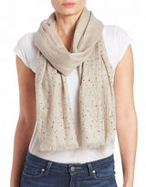 Lord & Taylor Wool Embellished Scarf