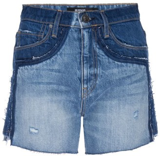 Hudson Double-Waistband Denim Shorts
